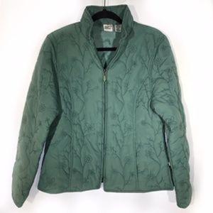 High Fever Teal Zip Up Jacket